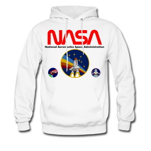 NASA Multi-patch Hoodie - white