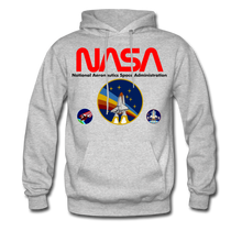 Load image into Gallery viewer, NASA Multi-patch Hoodie - heather gray