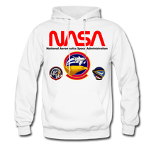 Load image into Gallery viewer, NASA Shuttle Flight Patches Hoodie - white