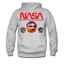 Load image into Gallery viewer, NASA Shuttle Flight Patches Hoodie - heather gray
