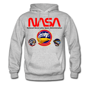 NASA Shuttle Flight Patches Hoodie - heather gray