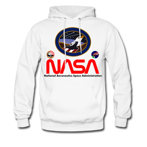 NASA Flying Eagles Hoodie - white
