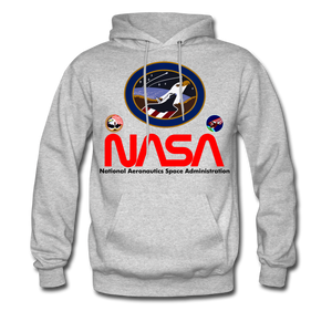 NASA Flying Eagles Hoodie - heather gray