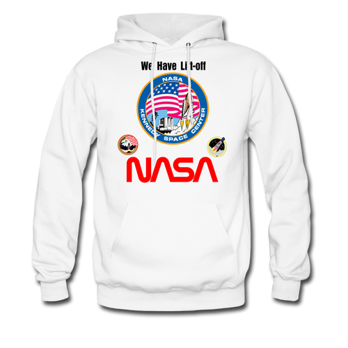 NASA Kennedy Space Center Launch Hoodie - white