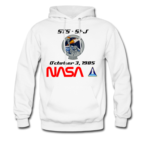 NASA Atlantis First Launch Hoodie - white