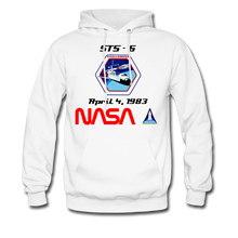 Load image into Gallery viewer, NASA Challenger's First Launch Hoodie - white