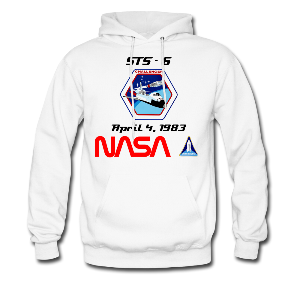 NASA Challenger's First Launch Hoodie - white