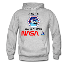 Load image into Gallery viewer, NASA Challenger's First Launch Hoodie - heather gray