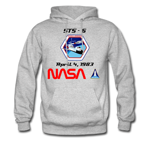 NASA Challenger's First Launch Hoodie - heather gray