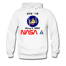 Load image into Gallery viewer, NASA Endeavour's First Launch Hoodie - white