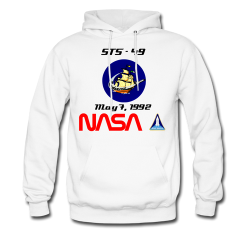 NASA Endeavour's First Launch Hoodie - white