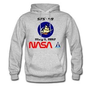 NASA Endeavour's First Launch Hoodie - heather gray
