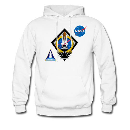NASA Final Shuttle Mission Hoodie - white