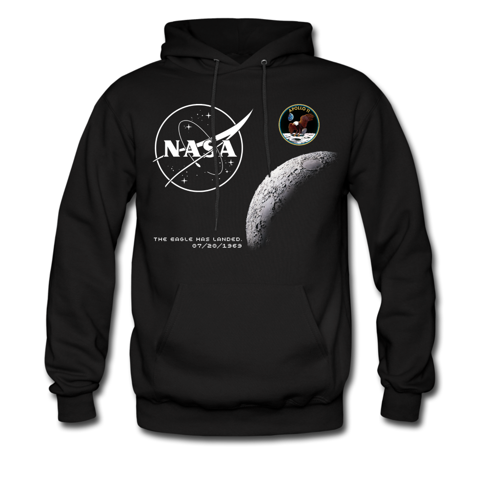 NASA Moon Landing Commemorative Hoodie - black