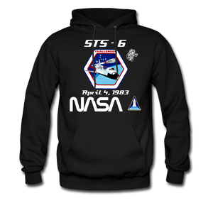 NASA Challenger First Launch Hoodie - black