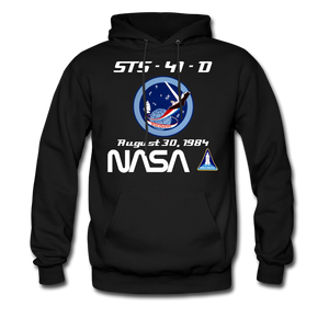 NASA Space Shuttle Discovery First Launch Hoodie - black