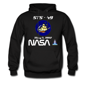 NASA Space Shuttle Endeavour First Launch Hoodie - black