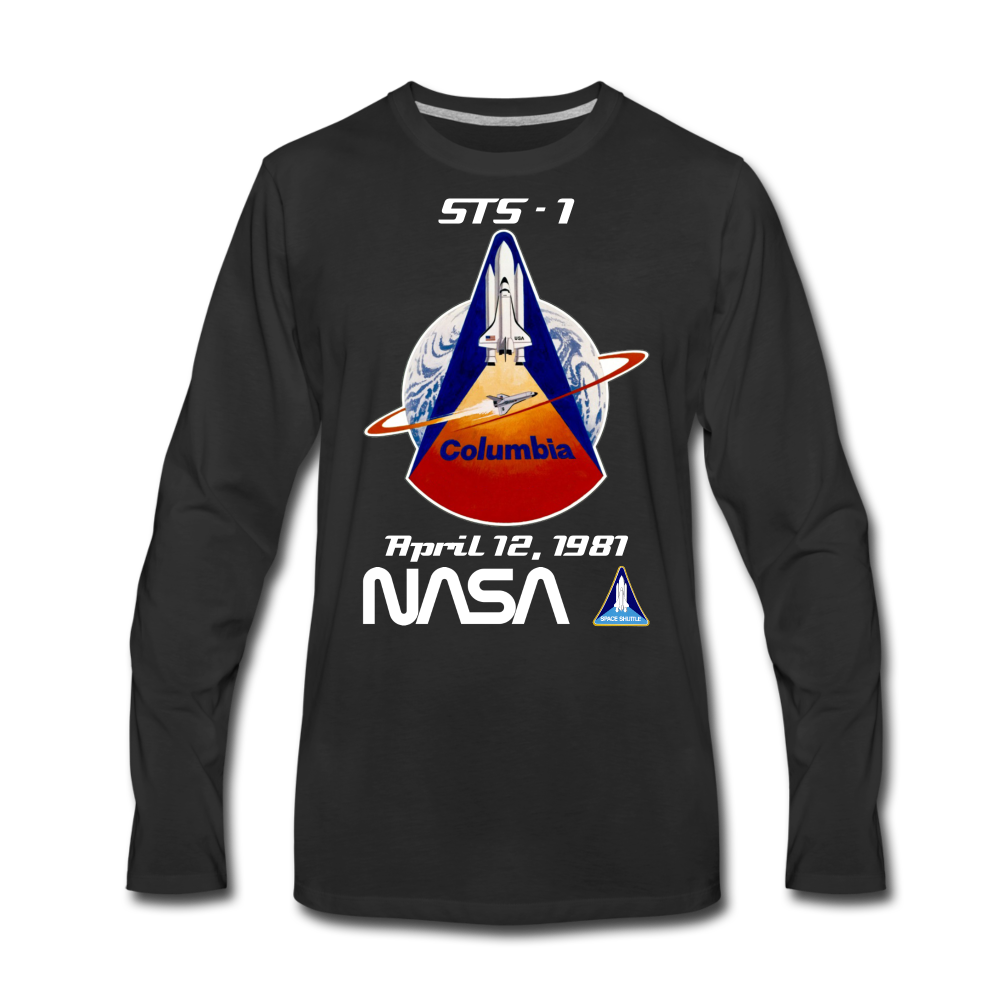 NASA Columbia First Launch Longsleeve - black