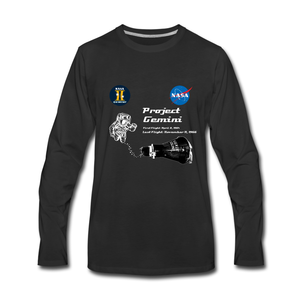 NASA Project Gemini Long Sleeve - black