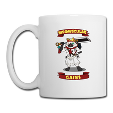 Load image into Gallery viewer, Meowscular Gains Mug - white