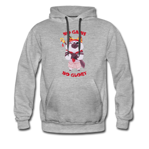 No Gains Cat Grey Hoodie - heather gray
