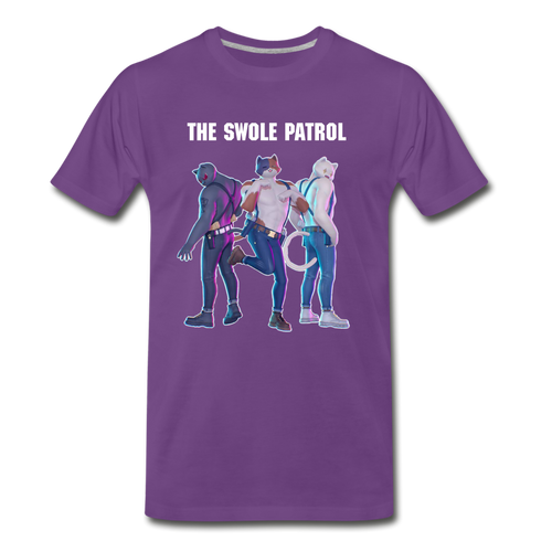 Meowscles Swole Patrol Purple Tee - purple