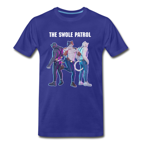 Meowscles Swole Patrol Blue Tee - royal blue