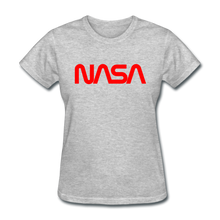 Load image into Gallery viewer, NASA Insignia Worm Logo Women's Grey Tee - heather gray