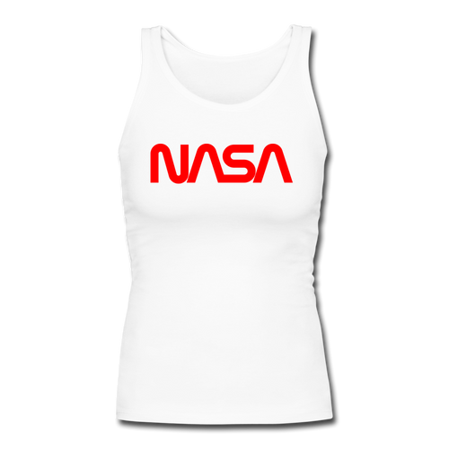 NASA Insignia Worm Logo Women's Tank - white