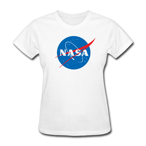 NASA Insignia Meatball Logo Women's Tee - white