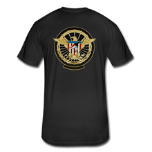 Load image into Gallery viewer, NASA Military style Fitted Cotton/Poly T-Shirt by Next Level - black