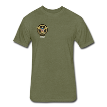 Load image into Gallery viewer, NASA Military style Fitted Cotton/Poly T-Shirt by Next Level - heather military green