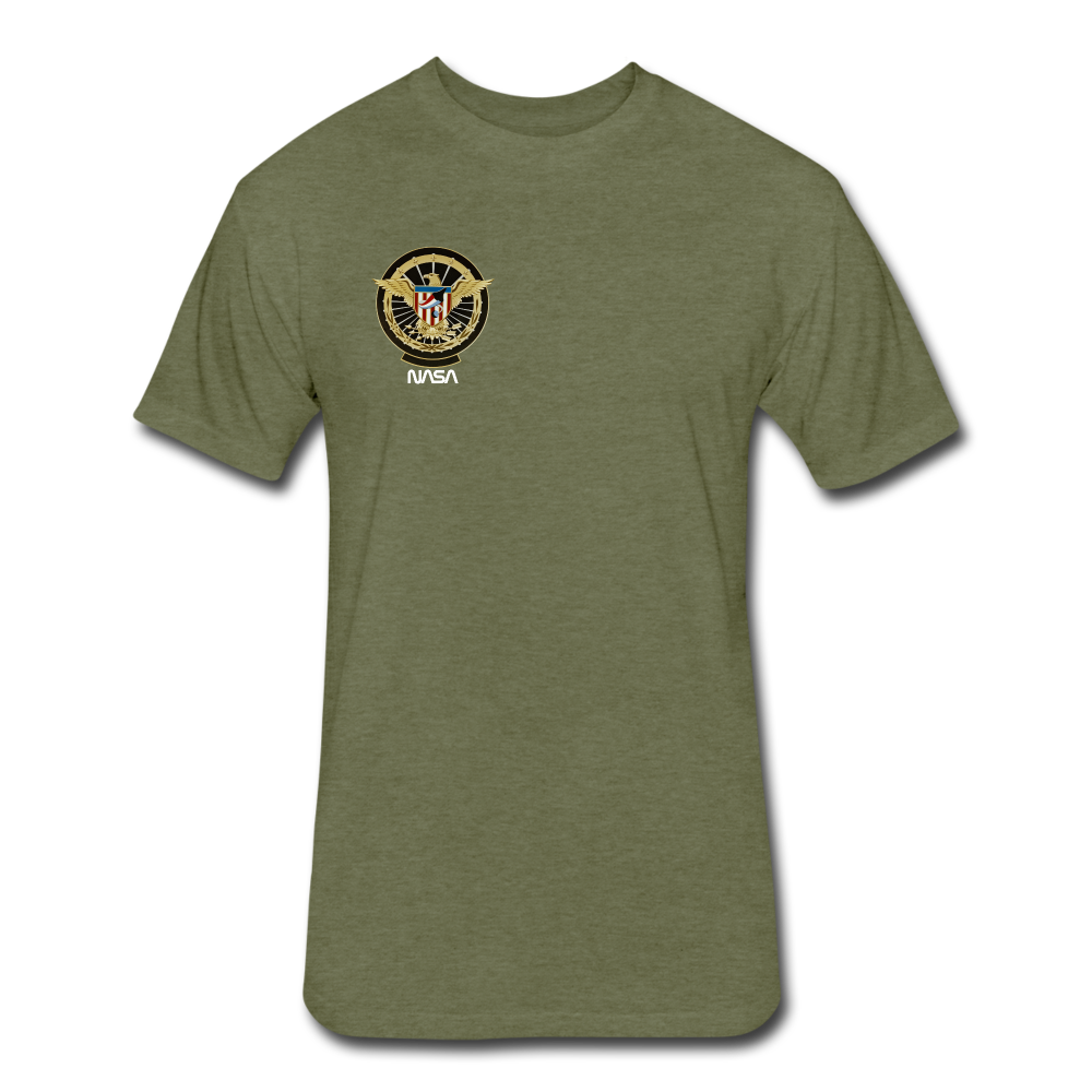 NASA Military style Fitted Cotton/Poly T-Shirt by Next Level - heather military green