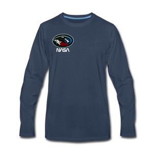 Men's Premium Long Sleeve T-Shirt - navy