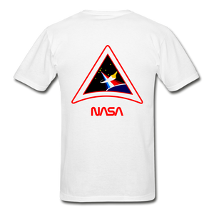 Gildan Ultra Cotton Adult T-Shirt NASA PAINTBRUSH - white