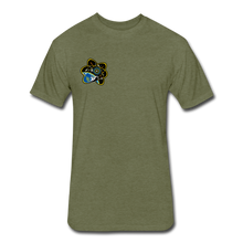 Load image into Gallery viewer, Fitted Cotton/Poly T-Shirt by Next Level - heather military green
