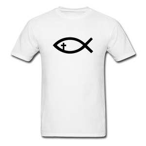 Cross Fish Tee - white