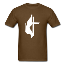 Load image into Gallery viewer, Methodist Cross Tee Dark - brown