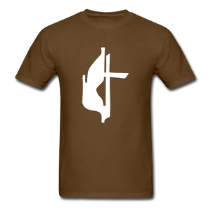 Methodist Cross Tee Dark - brown
