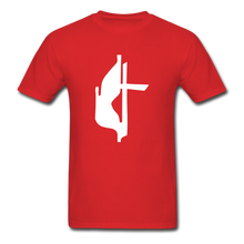 Load image into Gallery viewer, Methodist Cross Tee Dark - red