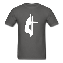 Load image into Gallery viewer, Methodist Cross Tee Dark - charcoal