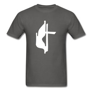 Methodist Cross Tee Dark - charcoal