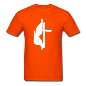Methodist Cross Tee Dark - orange