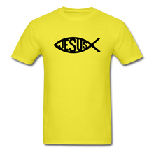 Load image into Gallery viewer, Jesus Fish Tee Bright - yellow