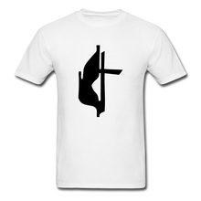 Load image into Gallery viewer, Methodist Cross Tee Bright - white