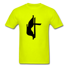 Load image into Gallery viewer, Methodist Cross Tee Bright - safety green