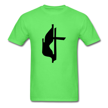 Load image into Gallery viewer, Methodist Cross Tee Bright - kiwi