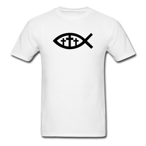 Three Crosses Tee Bright - white