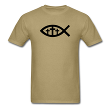 Load image into Gallery viewer, Three Crosses Tee Bright - khaki