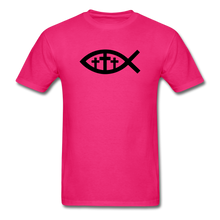 Load image into Gallery viewer, Three Crosses Tee Bright - fuchsia